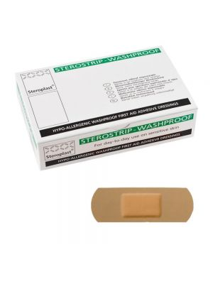 Straight Waterproof Plasters 2.5cm x 7.5cm 100's